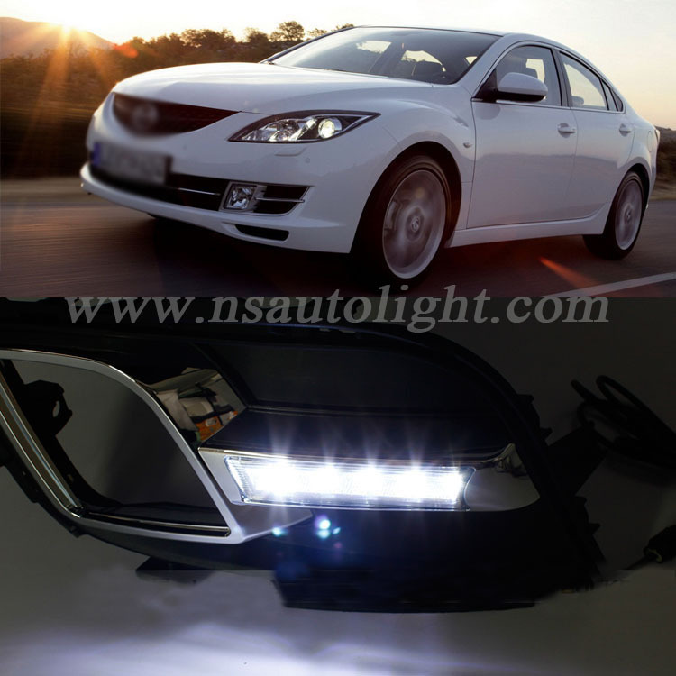 High power Super bright DRL Led daytime running light for Mazda 6 Sport safety auto lamp led original fog lamp<br><br>Aliexpress