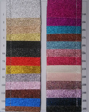 Synthetic PU glitter fabric leather material 50 yards per roll wholesale guangzhou Manufactor(China)