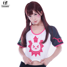 ROLECOS PlayWatch Overpog Magazine Cover Cosplay Costumes D.Va Hana Song Mercy Angela Ziegler Huge Rez T Shirt Cosplay Costumes(China)