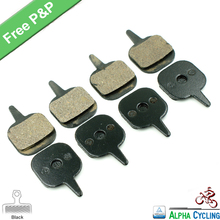 Bicycle Disc Brake Pads for Tektro IO Disc Brake, For Giant MTB bike, Black RESIN, 4 Pairs / ORD, Free Postage