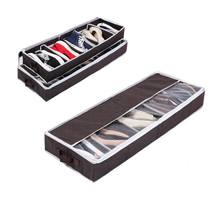 2017 Hot Multi-purpose Shoes Organizer Storage Shoe Case Coffee Bamboo Charcoal 5 Cell Space-saving Shoe Racks Storage Box(China)