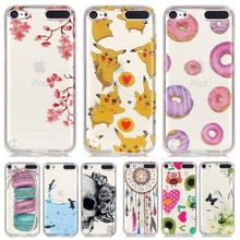 Soft Silicone TPU Case For Coque Apple iPod Touch 5 touch 6 Back Cover For iPod Touch5 touch6 Pikachu Clear Phone Cases