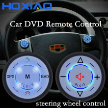 Luminous Car Steering Wheel Control DVD Button Universal wireless  Android GPS navigation remote control buttons