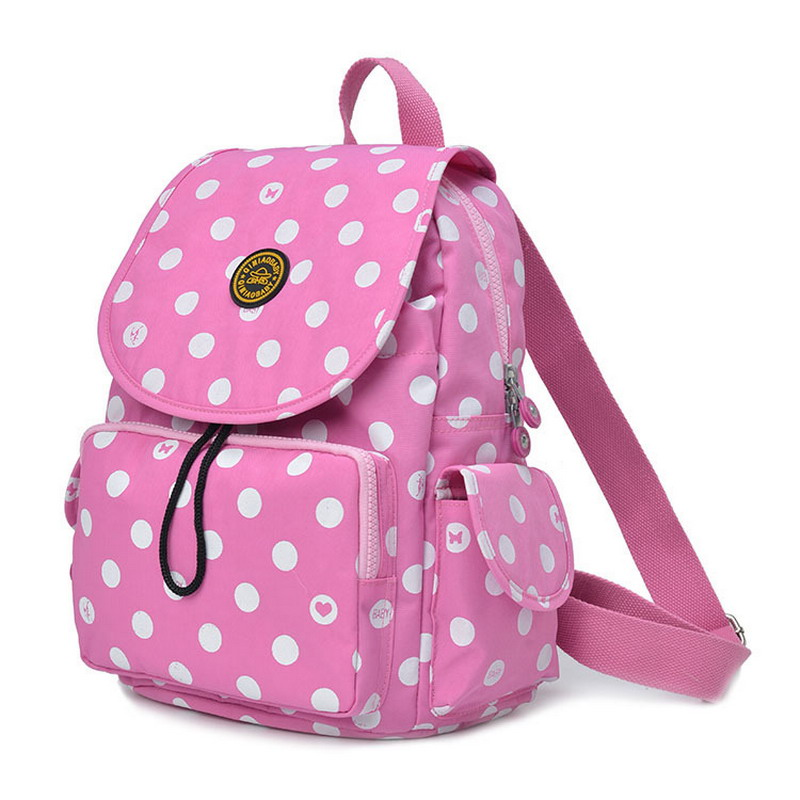 New Mummy Bag High Light Fashion Multifunctional Mummy Backpacks Womens Backpacks Large Capacity Ladies Girl School Bag Pink<br>