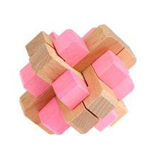 3D Puzzle Wooden Toys Kongming Luban Lock Toys Cube Intellectual Toys 3D Puzzles Game Educational Toys For Adults Kids Children(China)
