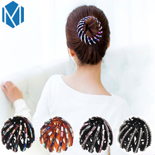 M MISM Fashion Nest Shape Ponytail Holder Hair Clip Women Multicolor Hair Claw Girl's Hair Accessories Tool(China)