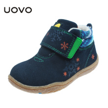 UOVO Soft Sole Little Kids Shoes Cow Suede Children Shoes Autumn Toddler Girls Boys Shoes Cute Comfortable Shoes for Kids(China)