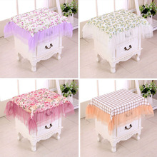 Hot Cheap 1pcs Countryside Style Bedside Table Cloth Tablecloth Cover Towel Cabinet Cover Dust Cover Lace Tablecloths V3547