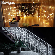 Bevigac 3.5m Fantastic String Curtain Fairy LED Light Lamp Decoration for Christmas Halloween Wedding Party Home Garden Wall