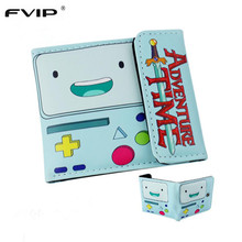 FVIP 2017 New Design Anime Cartoon Wallet Adventure Time/Jack/Zelda/Doctor Who and Minions  Purse Three Fold Wallets