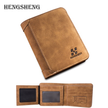 New Arrival Mens Vintage Short Wallets 2016 Male Brand Men PU Leather Thin Wallet Purses Multifunctional Billfold Card Holders