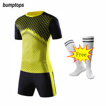 FREE SOCKS DIY Outdoors Men's Soccer Jerseys Add Team Logo Name Number Football Kits Adult Suits Training Uniform Great Quality