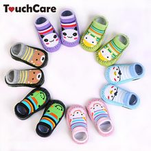 TouchCare Cartoon Animal Newborn Baby Socks Skidproof Walk Learning Toddler Socks Leather Sole Non-Slip Thick Towel Floor Socks