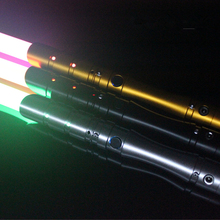 Cosplay Lightsaber with Light Sound Led Red Green Blue Saber laser Metal Sword Toys Birthday Star kid Gifts Game(China)