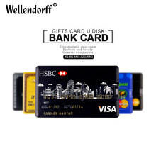 Hot sale Bank Credit Card USB 2.0 Flash Pen Drive 4GB 8GB 16GB 32GB 64GB pendrive memory stick U disk pendrives Gift