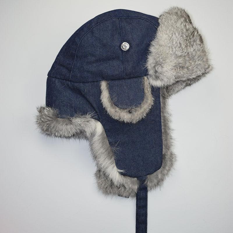grey rabbit fur jean blue shell 6