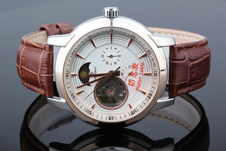 GEDIMAI Brand New Men Luxury brand Mechanical Watch Fashion Leather 100m Waterproof 3D Sports Watches Clock Relogio Masculino<br><br>Aliexpress