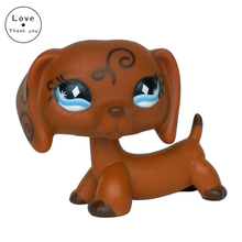 dog #640 Dachshund Animals Swirl Blue Diamond Eyes Brown  sausage dog toy
