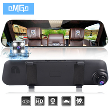 auto vehicle dvrs cars dvr dual lens car camera rearview mirror recorder video registrator full hd1080p dash cam camcorder(China)