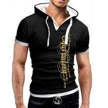 Buy Men T-Shirt Summer 2018 Brand Short Sleeve Hooded T Shirt Slim Tops Fashion Mens Tee Shirt T Shirts Plus Size 5XL QAW for $7.61 in AliExpress store
