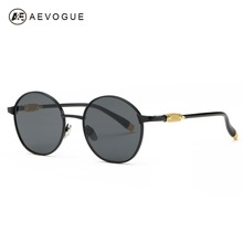 AEVOGUE Sunglasses Women Original Brand Designer Vintage Oval Frame Acetate Temple Sun Glasses Eyewear With Box UV400 AE0383(China)