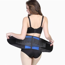 High Elasticity Neoprene Waist Lumbar Sports Support Belt Gym Fitness Weightlifting Wide Back Support Waist Back Belt Y010(China)
