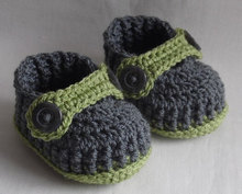 Crochet baby booties for Newborn, 0-3M or 3-6M,choose your size and colours