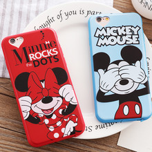 Funny Mickey Minnie Mouse Donald Duck Cartoon Case For iphone 5 5s SE 6 6s 7 PLus Soft Silicon Case Back Cover Capa Funda(China)
