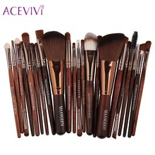 ACEVIVI Professional 22pcs Makeup Brushes Cosmetic Set Powder Foundation Blush Eyeshadow Eyeliner Lip Beauty Make up Brush Tools(China)