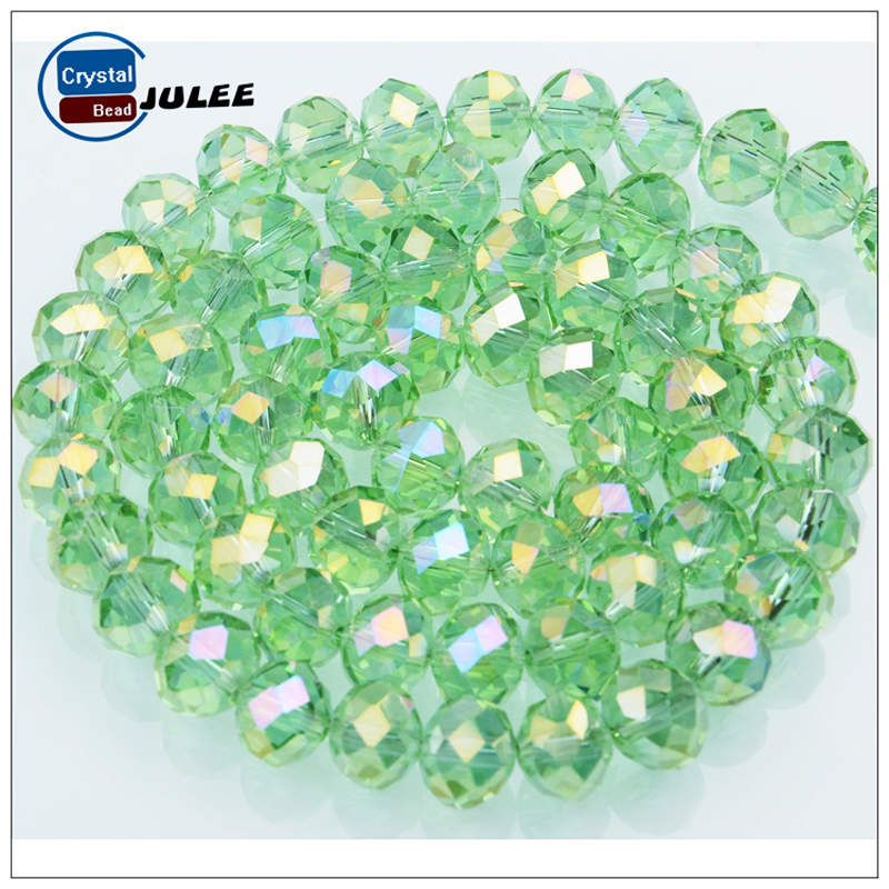 Buy 1 Get 1 Free Mixed Colors 4mm Rondelle Austria faceted Crystal Glass Beads Loose Spacer Beads for Jewelry Making