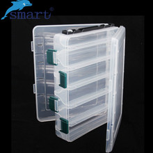 Plastic Fishing Tackle Box 20*17*5cm Double Sided 10 Compartments Waterproof Fishing Storage Boxes Peche A La Carpe Fishing Tool(China)
