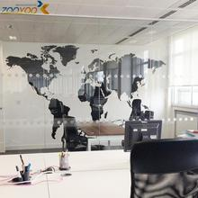 & 60*105 CM Black World Map Wall Stickers Bedroom Kids Room Home Decor 3D Vinyl Wall Decal Mural Study Room Office Removeable