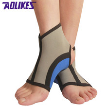 AOLIKES 2 Pcs /lot Stretch Sports Ankle Brace Tobilleras Deportivas Protector For Fitness Running Sports Safety Ankle Support(China)