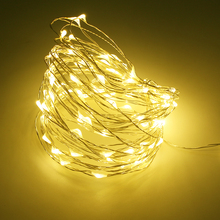 Waterproof Copper Wire LED String lights Holiday RGB LED Strip lighting For Fairy Christmas Tree Wedding Party Decoration lamp(China)