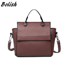 Bolish Vintage Trapeze Tote Women Leather Handbags Ladies Party Shoulder Bags Fashion Female Messenger Bags bolsa feminina(China)