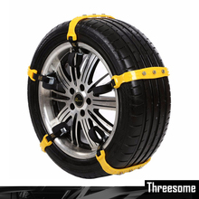 1pcs Car Tire Snow Chains Beef Tendon VAN Wheel Tyre Anti-skid TPU Chains Tire Chains Snow Climbing Ground Anti Slip