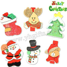 24PCS/LOT.Wood christmas clip.Memo board clip.Christmas tree ornament.Indoor christmas decoration.X'mas crafts.6design.Wholesale