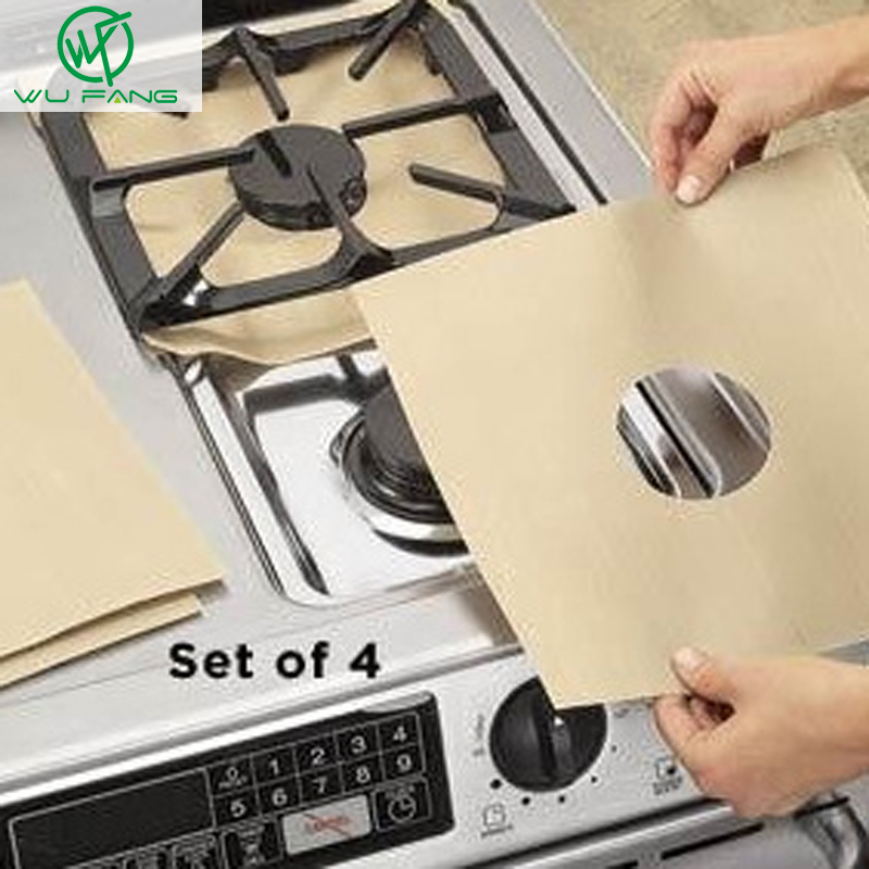 Stovetop Reusable Aluminum Foil Gas Stove Protecto...