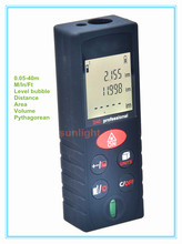 40M Laser Distance Meter Rangefinder M / In / Ft three units with Level Bubble(China)