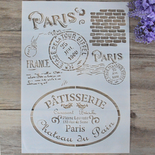 DIY Craft  Layering Stencils For Walls Painting Scrapbooking Stamping Stamp Album Decorative Embossing Paper Card Retro Paris