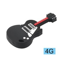 2018 Novelty Guitar Shape Musical Instrument Silicone Portable USB Flash Drive Pen Stick Plug and Play Flash Memory Storage USB(China)