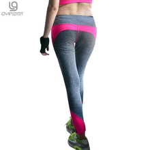 2016 Women's Workout Pants Elastic Wicking Force Exercise Female Fitness Trousers Woman Slim Leggings Workout Black