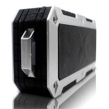 20w waterproof IPX67 outdoor metal portable speaker with great sound voice reminder aux and hands-free call