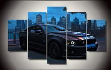 High Quality Printed Ford Mustang Group Painting Children'S Room Decor Print Poster Picture Canvas Unframed 5 Pieces(China)