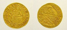1657 NB Hungary Gold coin copy 22.7mm