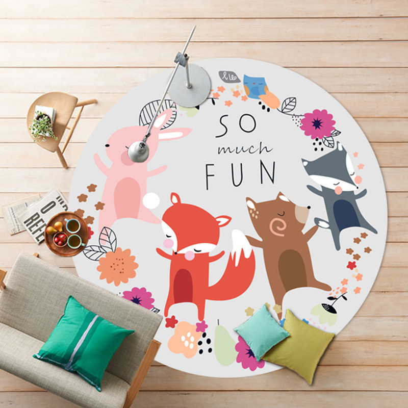 Children Cute Cartoon Round Mat alfombras dormitorio Carpet Living Room Deurmat rugs Swivel chair Mats tapis chambre(China (Mainland))