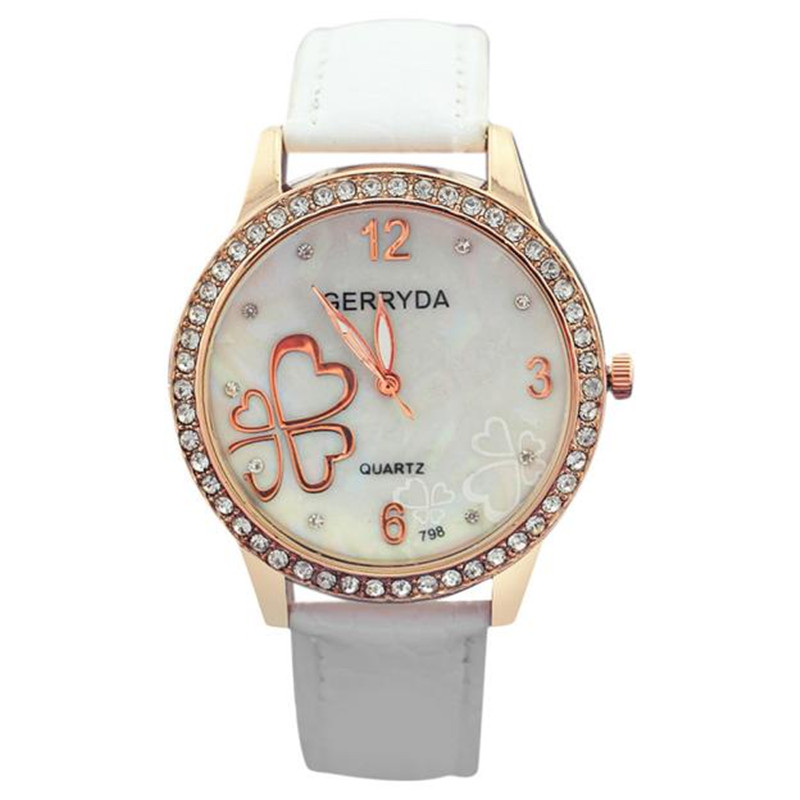 Reloj 2017 Hot Sale High Quality Analog Luxury Leather Strap Quartz Women Wrist Watch  Free shipping 17Jan17<br><br>Aliexpress