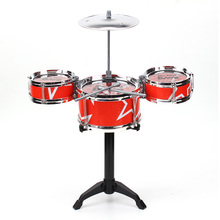 Zebra Red Blue Kids Toys Drum Kit Set Of Toy Music Hand Knocking Percussion Instruments Kid Jazz Beating Drum(China)