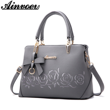 Ainvoev 2018 New Europe fashion trend bag women handbag fashion shoulder bag printing flowers crossbody bag female package a1834(China)