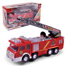 2017 Sell Like Hot Cakes 24cm*6.5cm*9cm Electric Universal Water Spraying Fire Fighting Vehicle Fire Engine Toy Holiday Gifts(China)